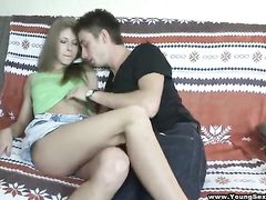 Light-Haired dp'd at home hookup soiree