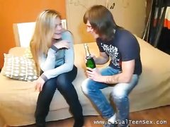 Inebriated platinum-blonde gets laid