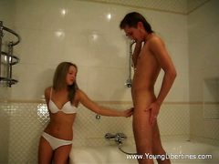 Super-Hot hookup in a bathroom