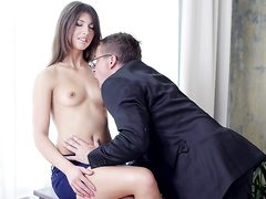 Marisa desired to display her teacher she knew a thing or 2 about blowing boner.