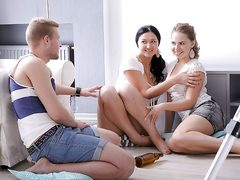 Youthfull and adventurous pals have amazing time with super-hot steamy 3 way and assfuck fuck-fest