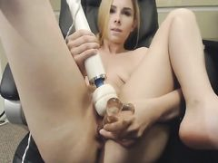 Blonde loves dildos and vibrators in her pussy