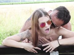 Outdoor park  fucking experience for hottie