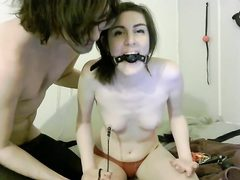 Young teen gets bondaged and gagged