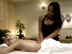 Adrianna Luna and Odette Delacroix massage