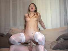 Courtesan slit creampied